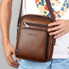 Casual Vintage Waterproof Multifunctional Shoulder Crossbody Bag For Men