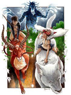 Princess Mononoke 1 by DanielGovar on deviantART
