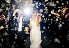 18 creative wedding exit toss ideas // Brandon O'Neal Photography // Featured: The Knot Blog
