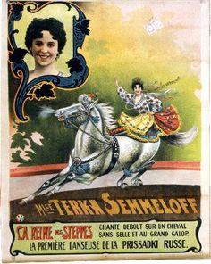 Holnie Mlle Terka Semmeloff circus poster