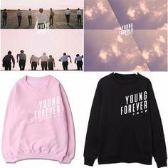 Kpop BTS Sweater Young Forever Bangtan Boys Hoodie Jung Kook Sweatershirt Jin V << I want Bts Hoodie, Hoody Kpop, Bts Shirt, Pullover Shirt, Sweater Shirt, Jung Kook, Kpop Fashion, Korean Fashion, Kpop Outfits