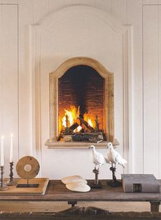 raised fireplace.
