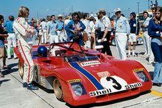 Ronnie Peterson, 1972 Sebring 12 hours race, in a Ferrari.