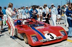 Ronnie Peterson, 1972 Sebring 12 hours race, Ferrari.
