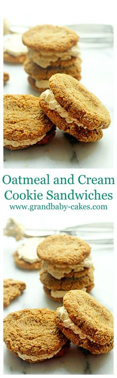 Delightful Oatmeal and Turbinado Cream Cookie Sandwiches from the wonderful cookbook Real Sweet by Shauna Sever ~ http://www.grandbaby-cakes.com