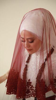 Muslimah Wedding Dress, Hijab Bride, Wedding Dresses, Modest Fashion Hijab, Hijab Chic, Dress Muslim Modern, Niqab, Simple Hijab, Henna Night
