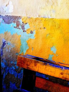 DECAY in cyan, gold and violet by Lunalunita