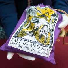 <p>A linen bag containing salt presented to Her Majesty by Salt Island, one of the British Virgin Islands. This gift reflected the tradition, reintroduced in 2015, of the Island paying the monarch an annual rent of a pound of salt on their birthday.</p><p>Copyright: Royal Collection Trust / © Her Majesty Queen Elizabeth II 2017</p>