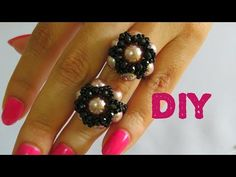 #Anel de Pérolas, Cristais e Miçangas - Diy Tutorial - YouTube