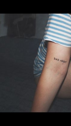 BAD HABIT ignorant style tattoo by @diseasezoe   www.instagram.com/diseasezoe Czech republic • Prague