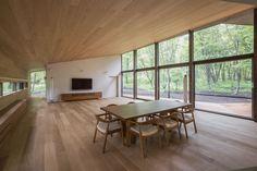 オーク質感コーディネート Style At Home, Japanese Modern House, Japanese Interior Design, Loft Room, Modern Spaces, Glass House, Home And Living, Contemporary Design, Living Room Designs