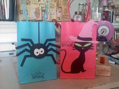 Treat bags for the kids that attended the Halloween Birthday Party...Silhouette did amazing job..