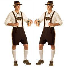 $26   Oktoberfest Men Lederhosen Bavarian German Beer Festival Costume Fancy Dress  #Unbranded #CompleteOutfit