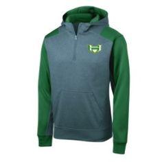 Sport-Tek Colorblock Tech Fleece 1/4-Zip Hooded Sweatshirt