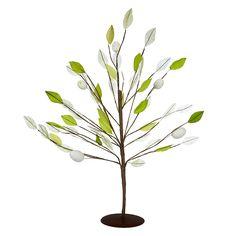 Buy John Lewis Leaf Tree Decoration, Green | John Lewis