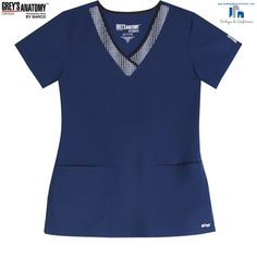 Grey's Anatomy by Barco 41431-IGP Filipina Medica de Uniforme Quirurgico Grey's Anatomy, Staff Uniforms, Scrubs Uniform, Medical, V Neck, Sewing, Pattern, Nursing Scrubs, Caregiver