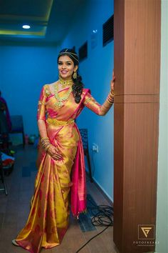 Shopzters 40 Of Our Shopzters Brides Who Wore Exquisite Sarees In 2017 Bridal Sarees South Indian, Wedding Silk Saree, Indian Bridal Fashion, Pattu Sarees Wedding, Wedding Saree Blouse Designs, Silk Sarees, Designer Sarees Wedding, Silk Saree Kanchipuram, Pattu Saree Blouse Designs