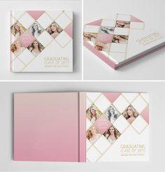 Senior Book Album Cover Template | Glam