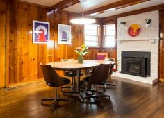 These first-time home buyers are inspired by Stanley Kubrick's set design and 1960s color schemes. Their Nashville home has retro funky vibes and monochrome moments.