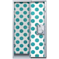 LockerLookz Locker Wallpaper Blue Polka Dot 24 pieces (26 CAD) ❤ liked on Polyvore featuring home, home decor, blue home accessories, polka dot home decor and blue home decor