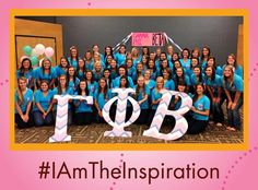 """#BeTheInspiration """"I am so proud of our chapter!"""" says Gamma Rho chapter (Wisconsin-Oshkosh) president Kelsey Flanagan. """"We have 56 members (campus Total is 50), and are the largest chapter on campus for the first time in more than a decade. We feel amazing to have finally reached our goal, and our sisterhood is closer and stronger than ever before!"""" #GammaPhiBeta #IAmTheInspiration"""