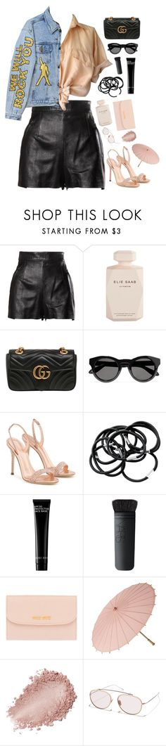 """Rock you"" by mode-222 ❤ liked on Polyvore featuring Moschino, Elie Saab, Gucci, Givenchy, Giuseppe Zanotti, Bobbi Brown Cosmetics, NARS Cosmetics, Miu Miu and Sunday Somewhere"