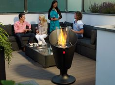 Safretti OlympiQ – the logical Combination of a Fireplace and Barbecue Outdoor Heaters, Outdoor Spaces, Outdoor Decor, Rooftop Garden, Garden Landscaping, Barbecue, Fire, Pictures, Design