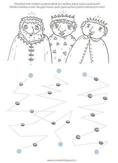 Pracovní list: Tři králové Christmas Activities For Kids, Winter Crafts For Kids, Type Illustration, Illustration Artists, Nouvel An, Epiphany, Art Courses, Kids And Parenting, Diy And Crafts