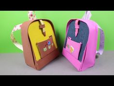 How to make American Girl Doll school supplies: a pencil case - YouTube