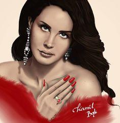 Lana Del Rey #LDR #art by Kamil Bąk
