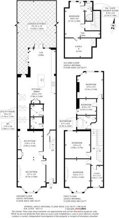 Much bigger - but utility and loo in there 1930s House Extension, House Extension Plans, Side Return Extension, Rear Extension, London Townhouse, Edwardian House, House Extensions, Plan Design, House Floor Plans