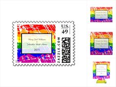 Gay Rainbow Freedom Flag Wedding collection. This design can be found on a collection of wedding invites, stamps and other products. This design features a freedom flag, rainbow of dripping paint. A great design for lesbian, gay, LGBQ weddings, civil unions and other celebrations.