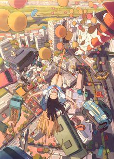 "ca-tsuka:  ""Hinata no Aoshigure""New animated short-film by  Hiroyasu ""Tete"" Ishida (Fumiko's Confession). Production : Studio Colorido"