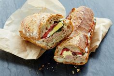 Pan Bagnat Sandwich with Tuna, Anchovies, and Parsley-recipe image / Photo by Chelsea Kyle, food styling by Katherine Sacks
