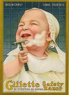 shaving baby ad