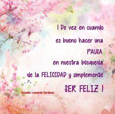 Ser feliz!!
