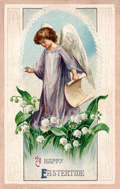 Image detail for -Vintage Easter Greeting Card Illustration // vintage easter old ...
