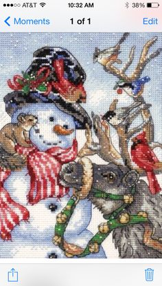 Counted Cross Stitch Snowman