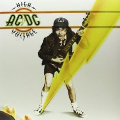 Ac/dc High Voltage International Version ACDC Vinyl Record LP for sale online Ac Dc, Iconic Album Covers, New Vinyl Records, Live Wire, Record Players, Vintage Records, High Voltage, Music Albums, Rolling Stones