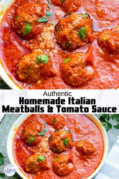 You can make these EASY delicious beef homemade Italian meatballs and tomato sauce in ONE POT! No bake meatballs are easy to make with a few ingredients on your stove top. They're the best, moist and Authentic Italian Meatballs, Homemade Italian Meatballs, Homemade Meatballs Crockpot, Authentic Italian Recipes, Easy Italian Recipes, Homemade Italian Spaghetti Sauce, Best Italian Meatball Recipe, Crock Pot Meatballs, Homemade Tomato Sauce