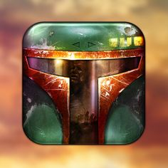 Boba Fett iOS app icon by Michael Flarup
