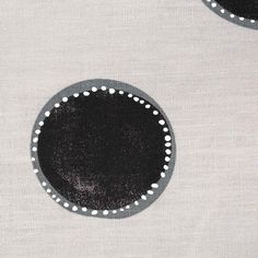 Dotted Circles Fabric in Gray & Black