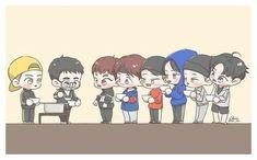 <credits to owner> Kpop Exo, Suho Exo, Kaisoo, Exo Fanart, Exo Cartoon, Chibi, Exo Stickers, Exo Anime, Exo Lockscreen