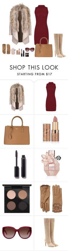 """""""Luxury lady style"""" by monika1555 on Polyvore featuring Prada, tarte, Chanel, Viktor & Rolf, MAC Cosmetics, Burberry, Yves Saint Laurent and Gianvito Rossi"""