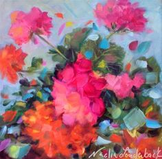 "Daily Paintworks - ""Dazzle Me Pink"" - Original Fine Art for Sale - © Nadia Louderback"