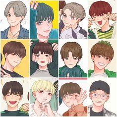 Woozi, Wonwoo, Jeonghan, Boy Art, Pledis Entertainment, Seungkwan, Anime Chibi, Vixx, Nct Dream