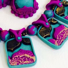 Polymer Clay TV & Polymer Clay Productions: Gorgeous jewelry set by PCTV Design Team member Deepa Pulickal
