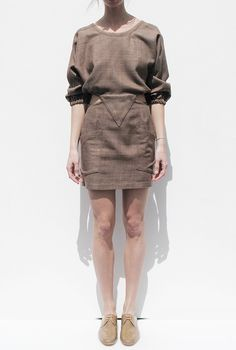 Electric Feathers Oyster Hatch dress via Maryam Nassir Zadeh.