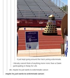 The only time a Dalek was useful.
