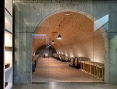 View full picture gallery of Valdemonjas Winery Walla Walla Wineries, Vaulted Ceiling Lighting, Diy Garden Fountains, Wine Cellar Design, Study Architecture, Backyard Projects, Gallery, Basement Conversion, Shaby Chic